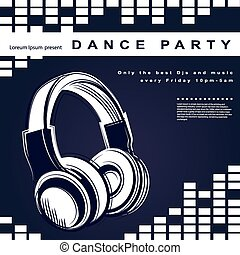 Vector party poster. Night club poster for your business.