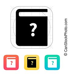 Instruction book icon.