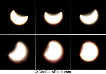 Solar eclipse serial 2 - Astronomical phenomenon, a partial...