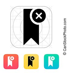 Remove bookmark icon. Vector illustration.