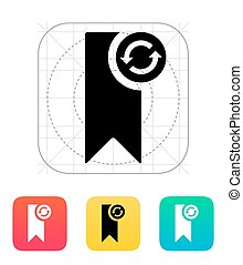 Bookmark synchronization icon. Vector illustration.