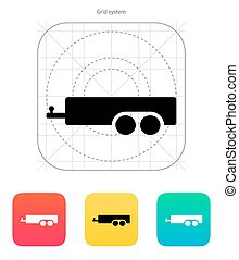 Car trailer icon. Vector illustration.