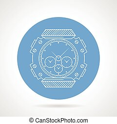 Flat vector icon for diving watch