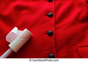 proper care of the coat using Lint Rollers