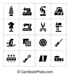 Set icons of sewing