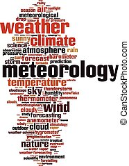 Meteorology word cloud concept Vector illustration