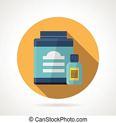 Vector icon for sport supplements - Yellow flat color design...