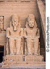 Abu Simbel temple - Abu Simbel Details of Egyptian art An...