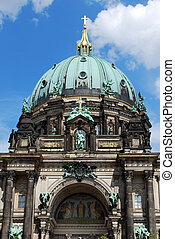 berlin dome cathedral in front of blue sky