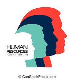 Human resources, vector illustration.