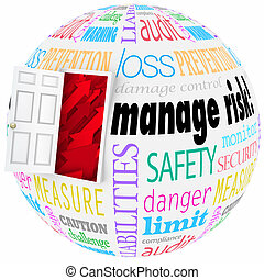 Manage Risk Reduce Danger Hazard Problems Open Door Lower...