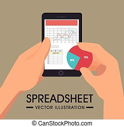 Spreadsheet design, vector illustration. - Spreadsheet...