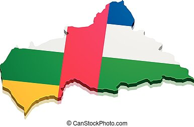 Map Central African Republic - detailed illustration of a...