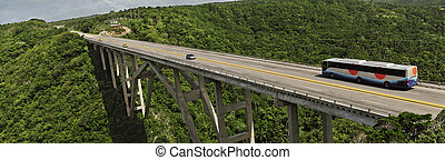 Bridge between Havana and matanzas - Panoramic view of...
