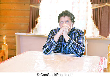Man sitting at a table