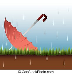 Weather design, vector illustration. - Rainy season design,...