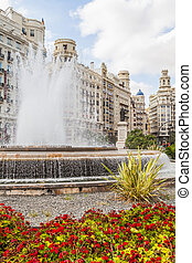 Valencia Citycenter - Spain, Valencia Panorama of Plaza de...