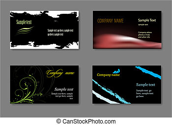 Black vector business card template