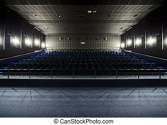 Interior of the modern theater. View from the stage to the...