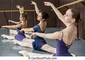 classical choreography - Young ballerinas on the lesson of...