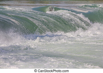 Powerful stream of water