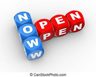 3d crossword now open