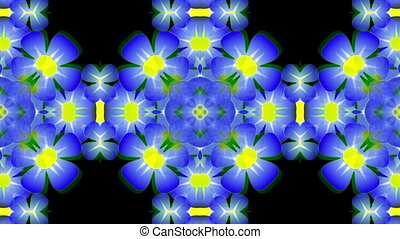Blue flowers - Pattern of blue flowers. Appear in the...