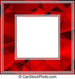 red border - Abstract polygonal border with bright red...