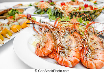 mamy food on dining table