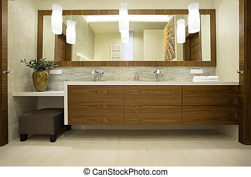 Modern design of units - Image of modern design of wooden...