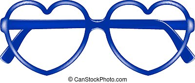 Sun glasses frame in shape of heart without lenses on white...