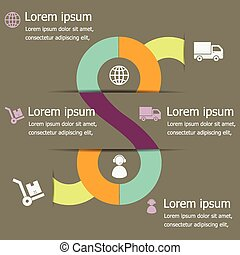 Infographic of logistic design template