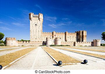 La Mota Castle, Medina del Campo, Valladolid Province,...