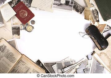 Good bye, USSR! - Vintage frame background in ancient USSR...