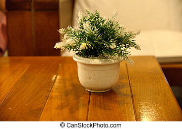 Small tree on table