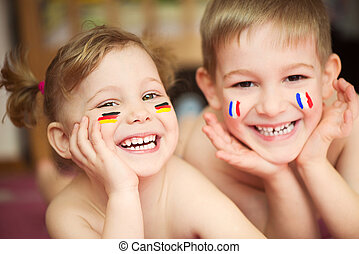 europeu, crianças,
