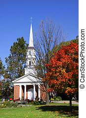 Church in Greenfield village - Historic church in Greenfield...