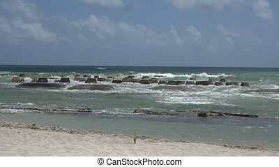 Pan of Ocean Barricade Beach - Check out these awesome reef...