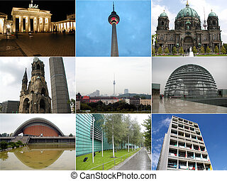 Berlin collage - Berlin landmark collage including the...