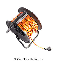 Extension cord on the reel