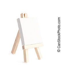 Tiny toy easel isolated - Tiny toy easel with a copyspace...