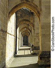 Buttress Winchester Cathedral - Buttress arches of...