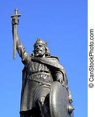 King Alfred The Greats statue designed by Hamo Thornycroft...