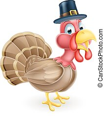 Cartoon Thanksgiving Turkey - Cartoon thanksgiving turkey...