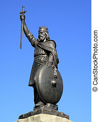 King Alfred Statue - King Alfred The Great's statue designed...