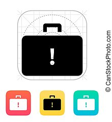 Dangerous case icon Vector illustration