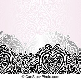 Pink wedding vintage background