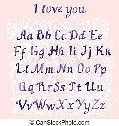 romantic Handwritten watercolor letters