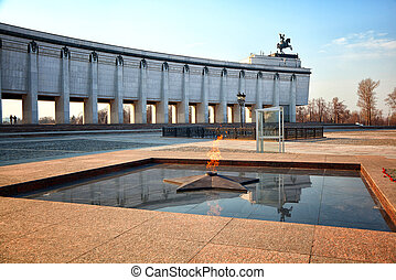 Eternal Flame - symbol of victory in World War II Poklonnaya...