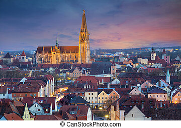 Regensburg. - Image of unesco heritage and historic bavarian...